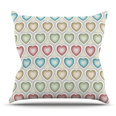 My Hearts Throw Pillow Size: 18'' H x 18'' W x 3