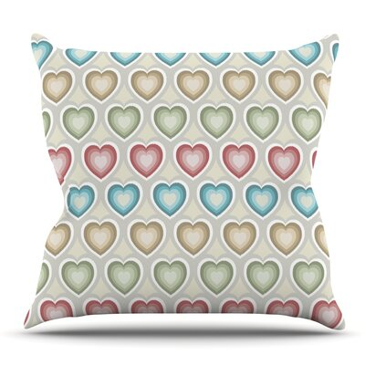 My Hearts Throw Pillow Size: 20'' H x 20'' W x 4