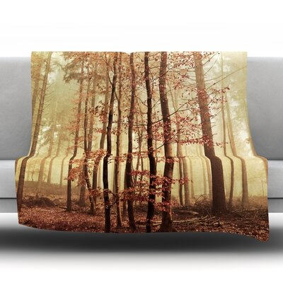 Autumn Again Fleece Throw Blanket Size: 40 L x 30 W