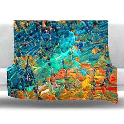Eternal Tide II Fleece Throw Blanket Size: 80 L x 60 W