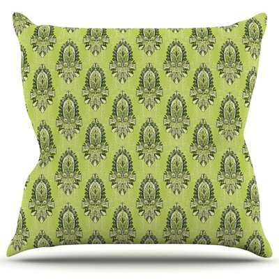 Deco Flourish Throw Pillow Size: 16 H x 16 W x 3 D