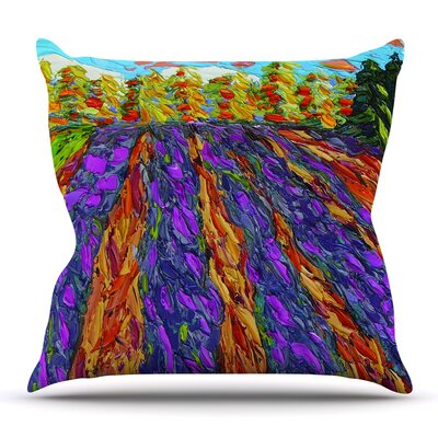 Flowers in the Field Throw Pillow Size: 16 H x 16 W x 3 D