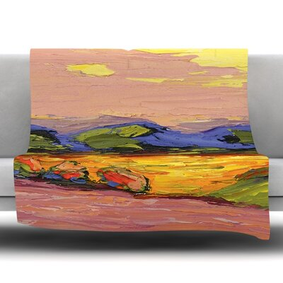Pastoral View Fleece Throw Blanket Size: 90 L x 90 W