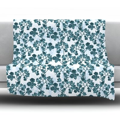 Flowers Fleece Throw Blanket Size: 60 L x 50 W