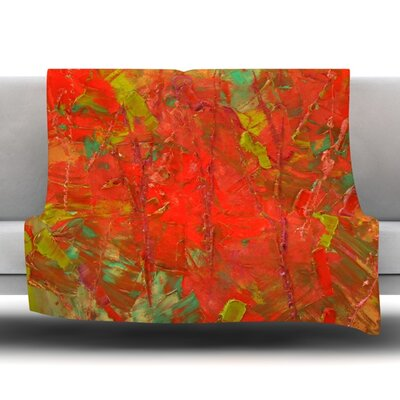 Crimson Forest Fleece Throw Blanket Size: 40 L x 30 W