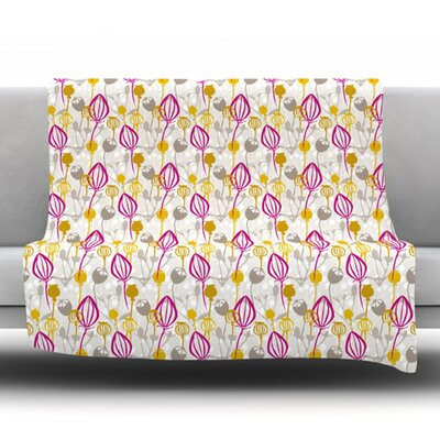 Mulberry Fleece Throw Blanket Size: 40 L x 30 W