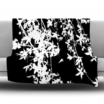 Fleece Throw Blanket Size: 40 L x 30 W, Color: White on Black