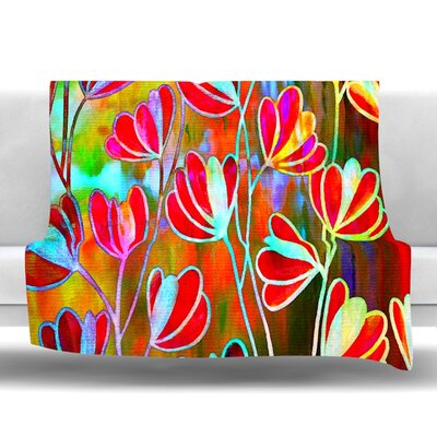 Efflorescence Fleece Throw Blanket Size: 40 L x 30 W, Color: Technicolor