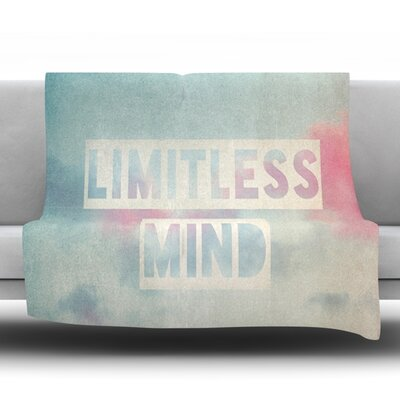 Limitless Mind Fleece Throw Blanket Size: 40 L x 30 W