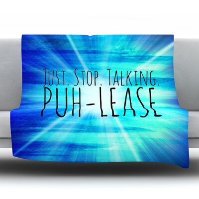 Puh-Lease Fleece Throw Blanket Size: 40 L x 30 W