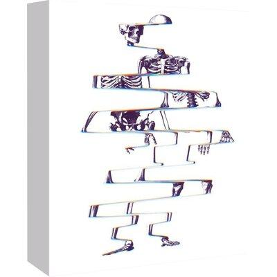 "Ali Gulec Skeleton Graphic Art on Wrapped Canvas Size: 48"" H x 32"" W x 1.75"" D EASU4689 34097386"