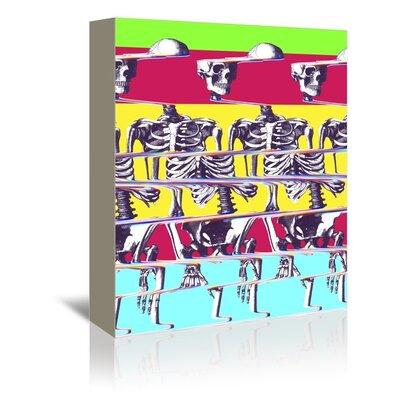 "Ali Gulec Skeleton Graphic Art on Wrapped Canvas Size: 48"" H x 32"" W x 1.75"" D EASU4710 34097485"