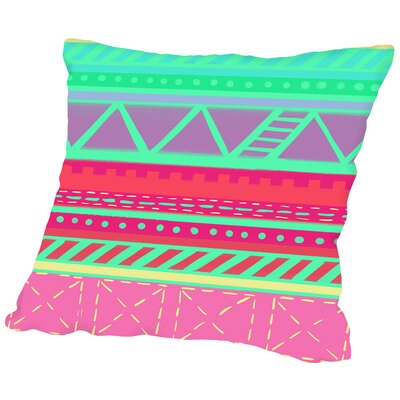 BeachBabeStripes CaraKozik Throw Pillow Size: 16 H x 16 W x 2 D