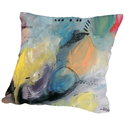 Balloune Er Collour Throw Pillow Size: 14 H x 14 W x 2 D