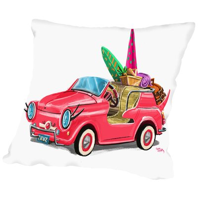Beachcruiser CaraKozik Throw Pillow Size: 16 H x 16 W x 2 D