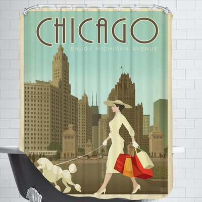 ASA Chic MichAveShopper2 Shower Curtain