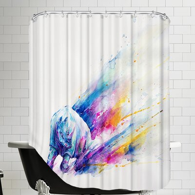 Ajax HD Print Shower Curtain