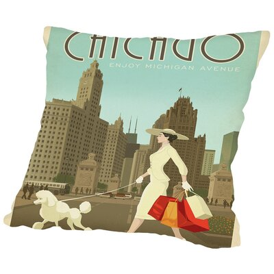 ASA Chic MichAveShopper2 Throw Pillow Size: 18 H x 18 W x 2 D