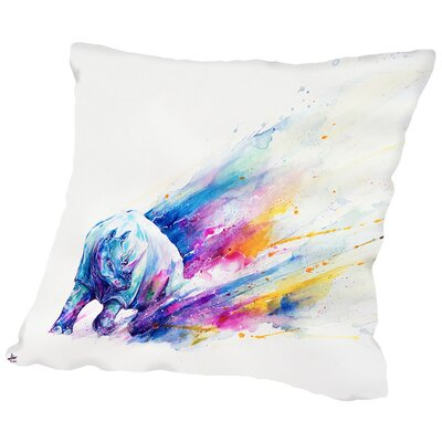 Ajax HD Print Throw Pillow Size: 18 H x 18 W x 2 D