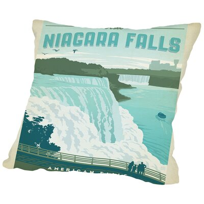ASA-NP-Niagra Throw Pillow Size: 18 H x 18 W x 2 D