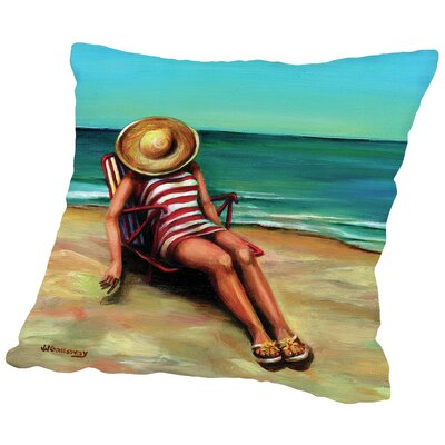 Bathing Beauty I Throw Pillow Size: 14 H x 14 W x 2 D