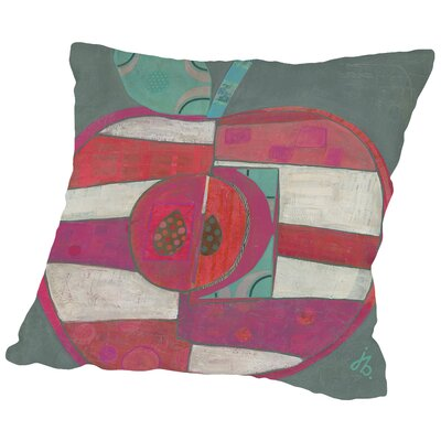 Apple Throw Pillow Size: 14 H x 14 W x 2 D