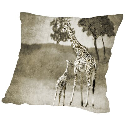 Baby and Mother Throw Pillow Size: 14 H x 14 W x 2 D