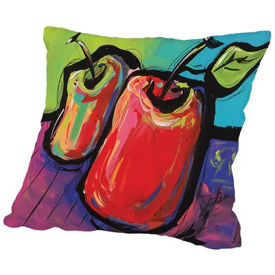 Apples Throw Pillow Size: 18 H x 18 W x 2 D