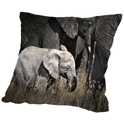 Baby Elephant I Throw Pillow Size: 18 H x 18 W x 2 D