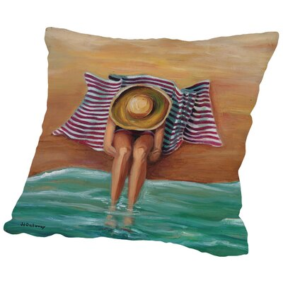 Bathing Beauty II Throw Pillow Size: 14 H x 14 W x 2 D