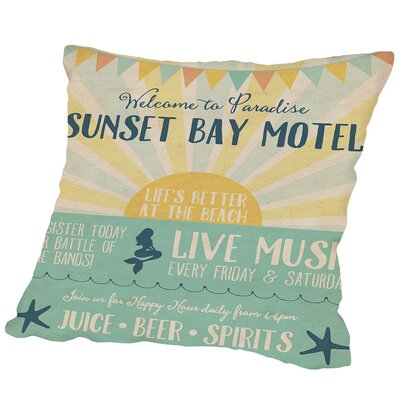 Beach Bar 1 Outdoor Throw Pillow Size: 18 H x 18 W x 2 D