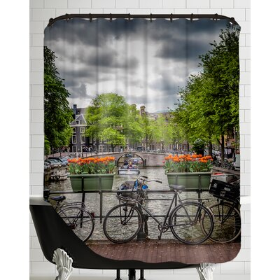 Amsterdam Gentlemencanal Bicycles Shower Curtain