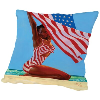 America The Beautiful Throw Pillow Size: 16 H x 16 W x 2 D