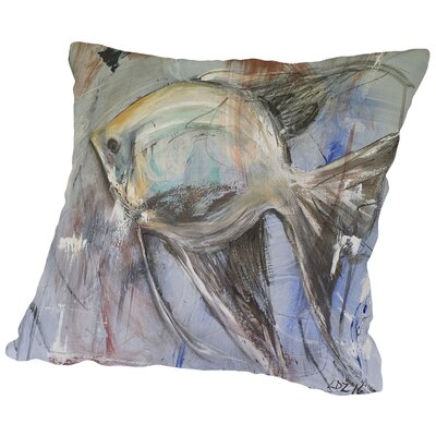 Angel Cotton Throw Pillow Size: 14 H x 14 W x 2 D
