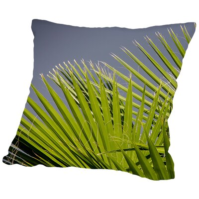 Palm Leaf Cotton Throw Pillow Size: 14 H x 14 W x 2 D