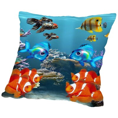 Fish Cotton Throw Pillow Size: 14 H x 14 W x 2 D