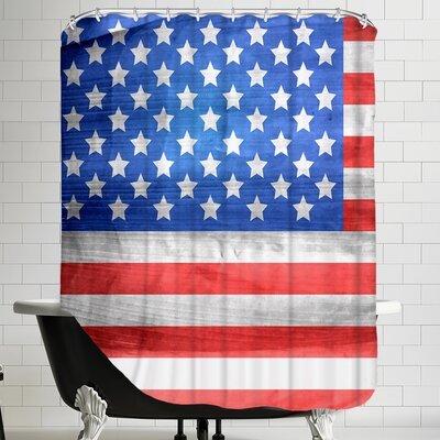 American US Flag Shower Curtain