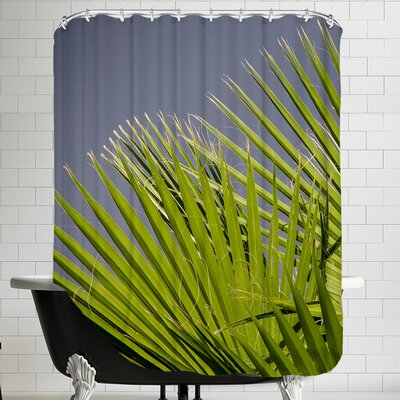 Style Palm Leaf Shower Curtain