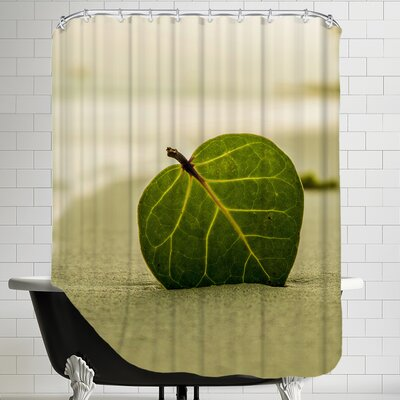 Beach Style With Leaf Shower Curtain