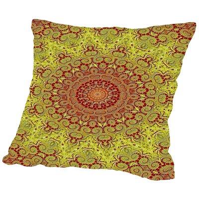Mandala Buddha Style Throw Pillow Size: 16 H x 16 W x 2 D