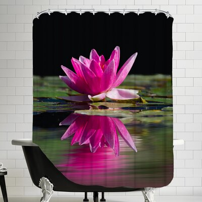 Asia Lotus Flower Shower Curtain