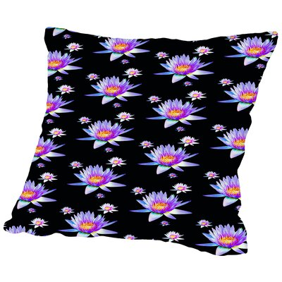 Asia Lotus Flower Throw Pillow Size: 16 H x 16 W x 2 D