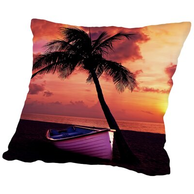 Beach Nature Holiday Travel Throw Pillow Size: 18 H x 18 W x 2 D