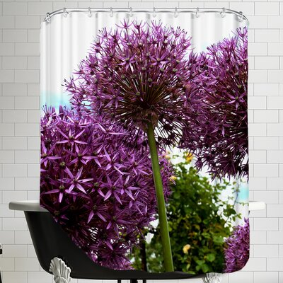 Allium Flower Shower Curtain