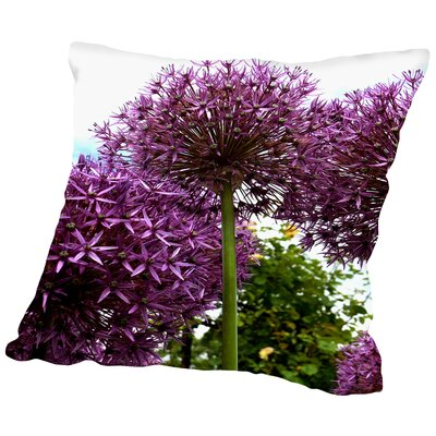 Allium Flower Throw Pillow Size: 18 H x 18 W x 2 D