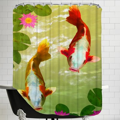 Asia Fish Koi Sealife Shower Curtain