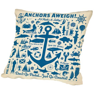 Anchor 2 Throw Pillow Size: 16 H x 16 W x 2 D