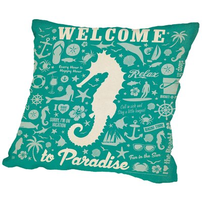 Adg-Seahorse Throw Pillow Size: 16 H x 16 W x 2 D