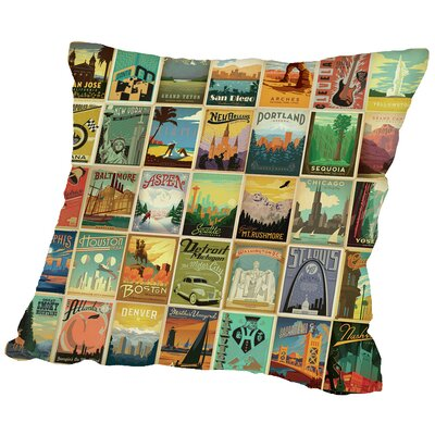 ASA Throw Pillow Size: 20 H x 20 W x 2 D