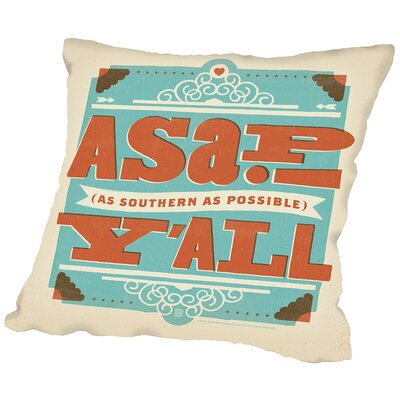Asap Throw Pillow Size: 18 H x 18 W x 2 D